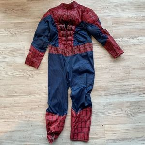 Disney Spiderman Costume Size 5/6 with Muscles